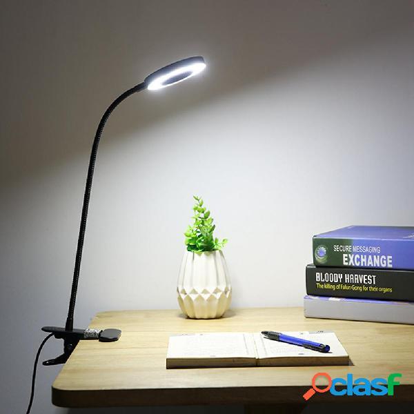 Creative 7W LED USB Dimmable Clip On Work Lampada da lettura