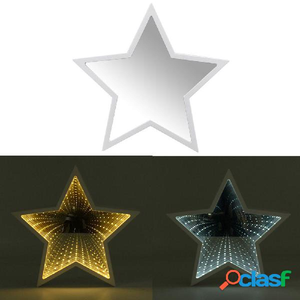 Creative Cute Star Mirror lampada LED Tunnel Night Light per