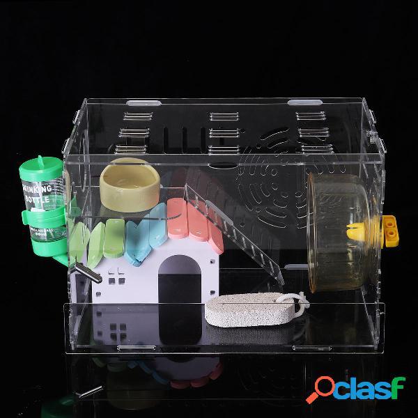 Criceto gabbia per criceti Clear 1 Layer Mouse Mouse Castle