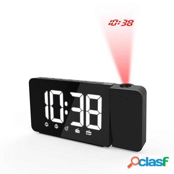 Digital LED Sveglia Riproduzione oraria Snooze FM Radio