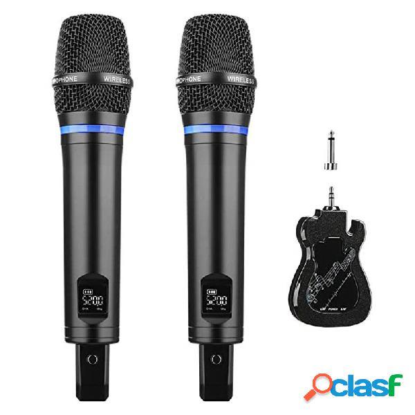 Doppio sistema di karaoke Microfono wireless ricaricabile