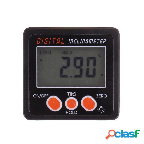 Drillpro 0,1 ° 360 gradi grande LCD inclinometro goniometro