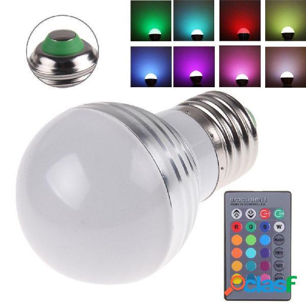 E27 3W rgb ir LED 16 colori cambiano lampada lampadina ac