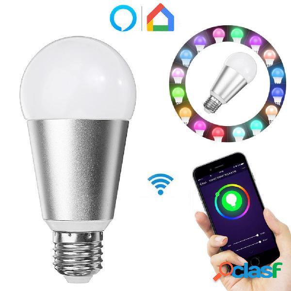 E27 7W RGBW WiFi APP Control Smart Light Bulb Funziona con