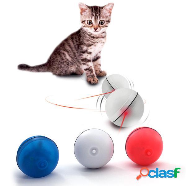 Elettrico Flash Palla a rotolamento leggero Gatti Giocattolo