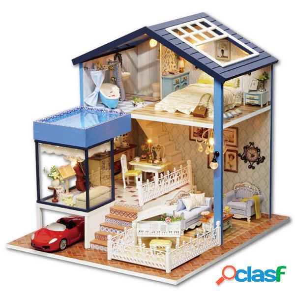 Fai da te casa delle bambole in miniatura Kit casa delle