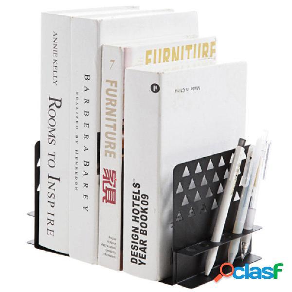 Fermalibri del ferro del metallo con lo scaffale per libri