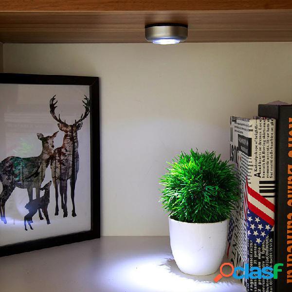 Home Batteria LED Luci notturne Sensore di tocco autoadesivo
