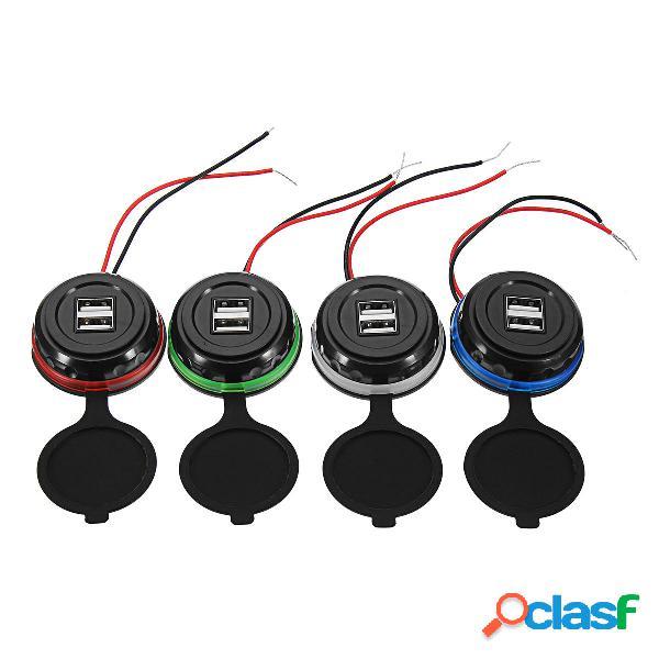 Indicatore di carica per auto USB 12-24V 3.1A LED