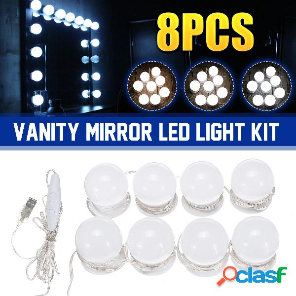 Kit luce specchiera dimmerabile USB 8 LED Lampadine Vanity