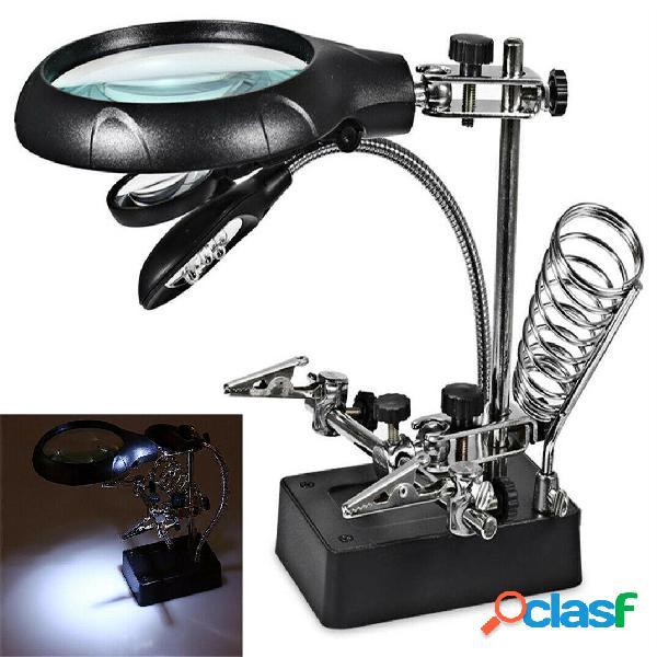 LED Desk lampada Lente dingrandimento 10X con morsetto per