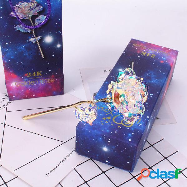 LED Galaxy Galaxy Foil Rose Fiore Regalo di San Valentino