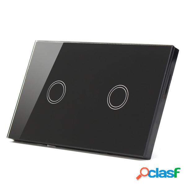 Luce di pannello Remote Touch in vetro LED 1 Way 2 Gang