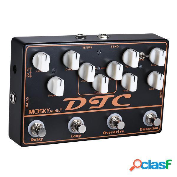MOSKY DTC 4 in 1 pedale effetti per chitarra elettrica con