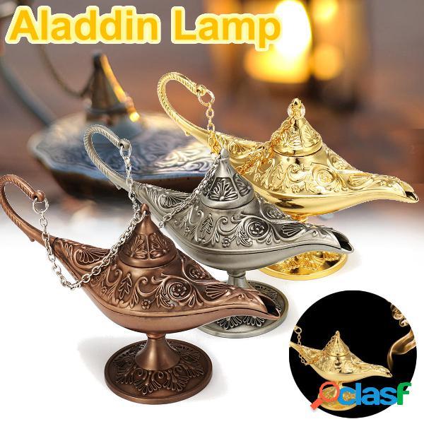 Metal Carved Legend lampada Aladdin Magia Genie Light Wish