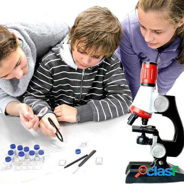 Microscopio 100X 400X 1200X Zoom Strumenti scientifici