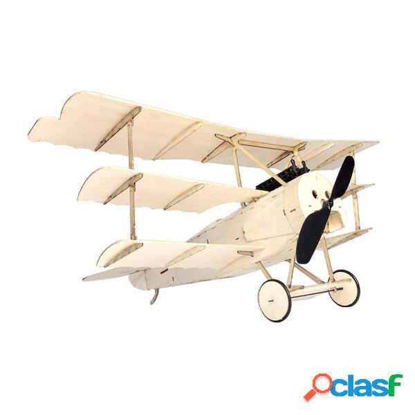 MinimoRC Fokker Dr.I Wingspan Balsa Wood Triplane Warbird RC