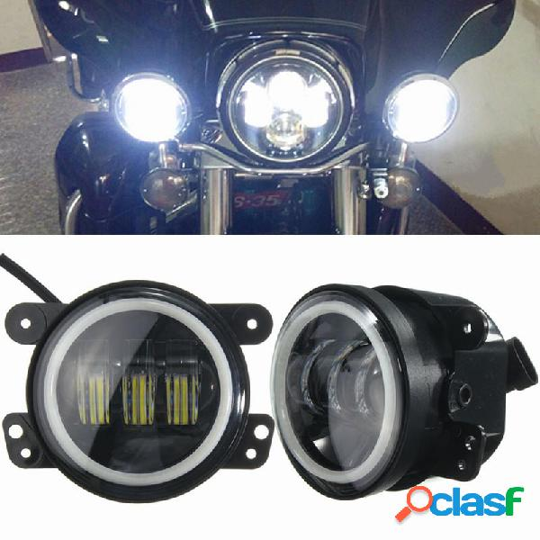 Moto 60W 4 pollici LED luce bianca per Harley Jeep Wrangler