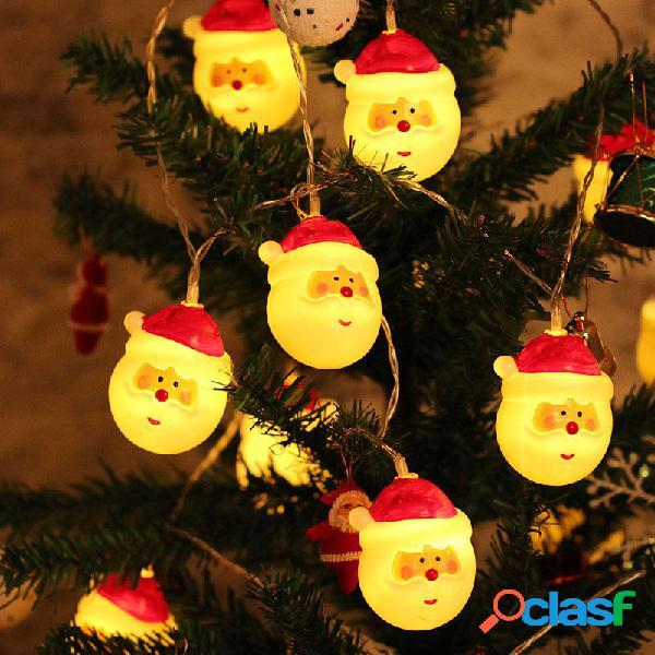 Natale 1.5M 10 LED Luci di stringa fata Lovely Babbo Natale