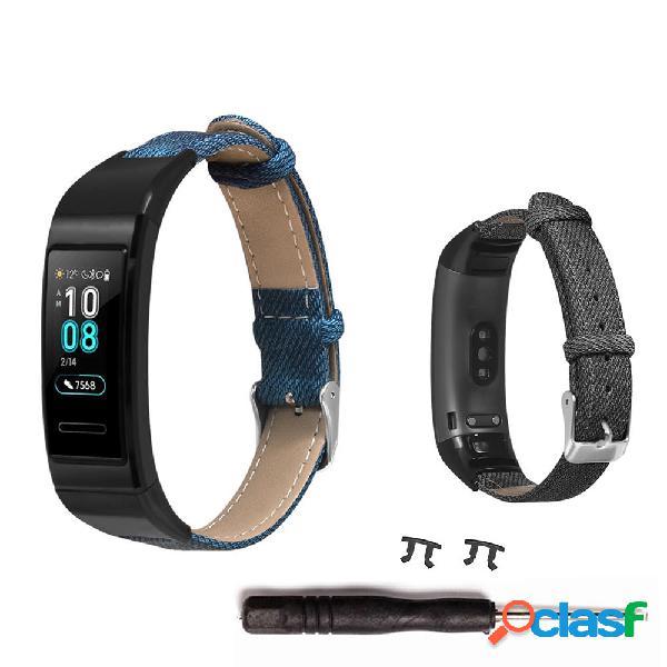 Orologio Bakeey Denim in pelle Banda per Smart Watch Huawei
