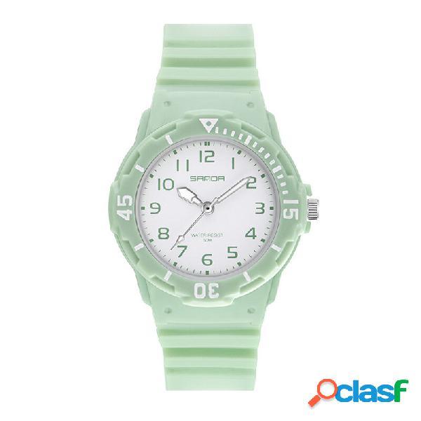 Orologio al quarzo da donna SANDA 6011 Fresh Color Silicone