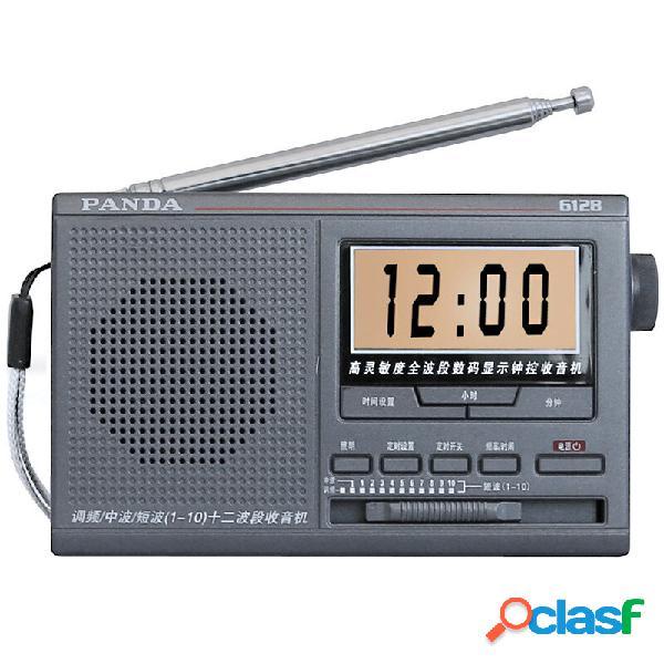 PANDA 6128 FM MW SW 12 Banda Radio Sveglia con avvio