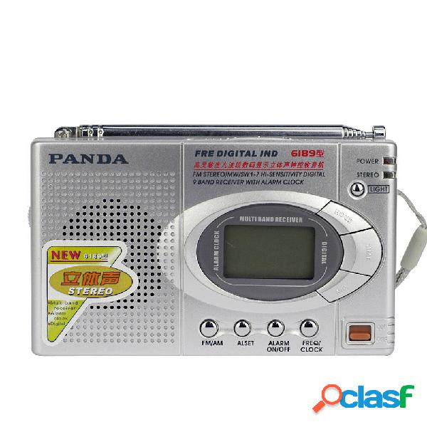Panda 6189 Mini portatile FM AM SW Radio Semiconduttore