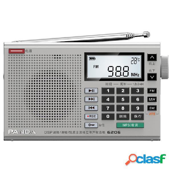 Panda 6206 FM MW SW completo Banda Radio Lettore musicale