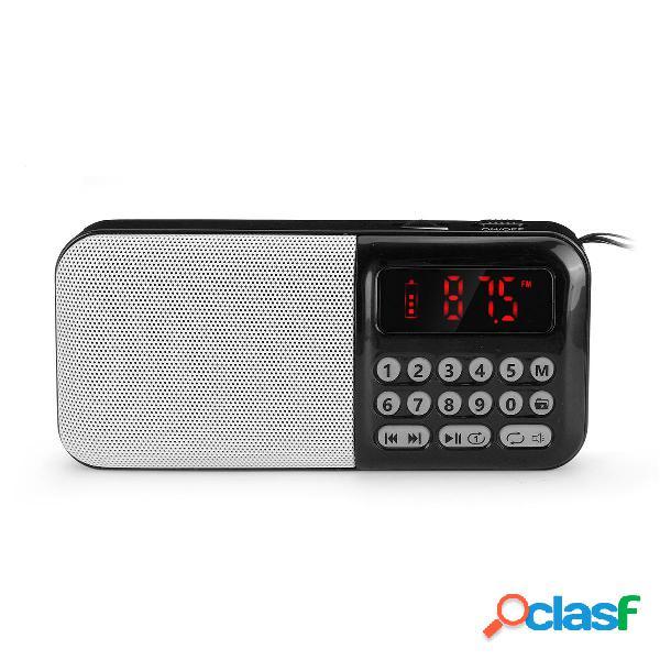 Portatile DC 5V 70-108 MHz FM Radio TF Card Lettore audio