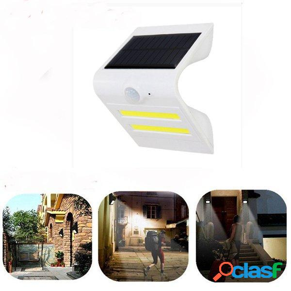 Solar Power PIR Motion Sensor COB LED Wall Light Outdoor