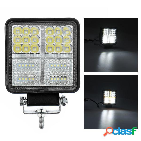 Square 114W 38 LED Faro da lavoro 12V 24V Off Road Spot