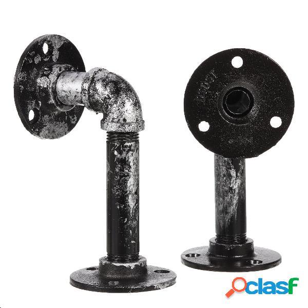 Staffe per mensole in acciaio industriale 2 pezzi Mensole
