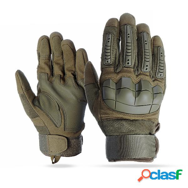 Touch Screen Full Finger Guanti Motorcycle Military Tactical