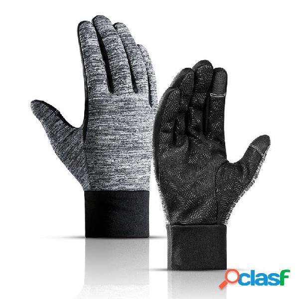 Touch Screen antiscivolo Guanti Inverno caldo impermeabile