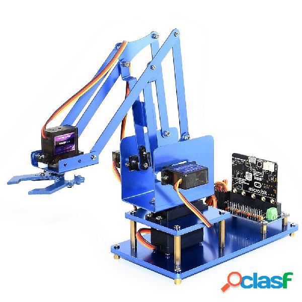 Waveshare DIY Micro: bit Metal 4DOF Kit braccio robot RC con