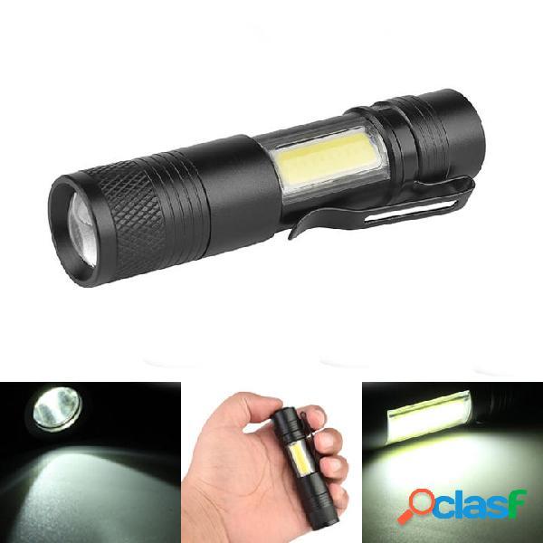 XANES 3504 XPE-Q5 + COB 600Lumen Zoomabile Mini LED Torcia