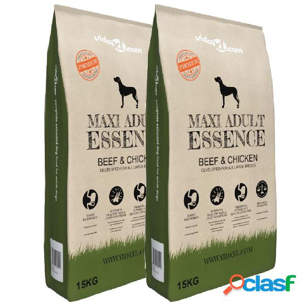 vidaXL Cibo Premium Cani Maxi Adult Essence Beef & Chicken 2