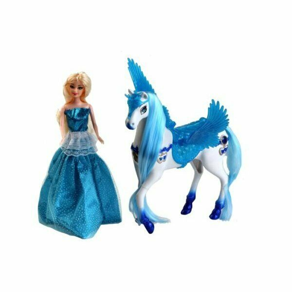 Bambola c/unicorno alato odg040