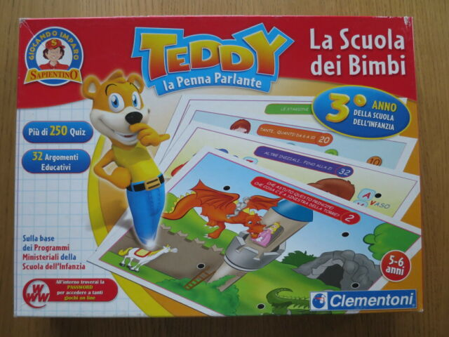 Gioco educativo TEDDY La Penna Parlante 2 scatole