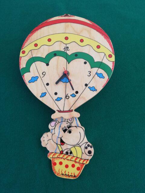 Orologio in legno per cameretta bimbo
