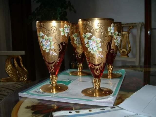 Bicchieri epoca in vetro di murano