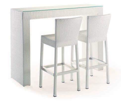 Coordinato composto da un tavolo e due o quattro sgabelli.