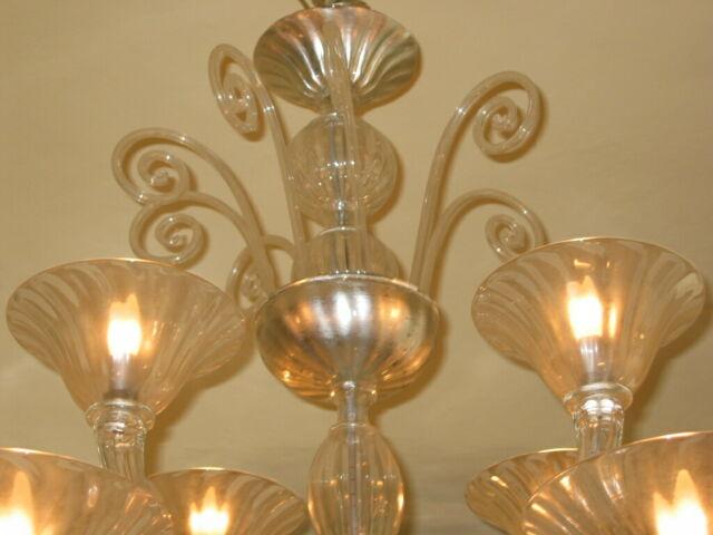 Lampadario 12 luci Murano
