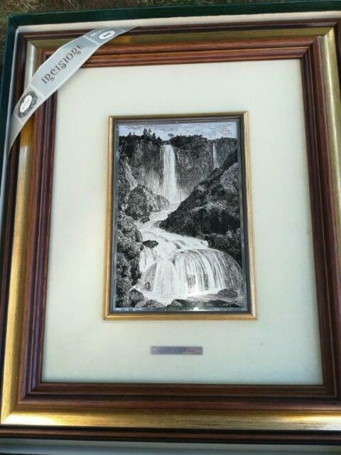 Litografia su lastra d'ARGENTO 800‰ Cascata