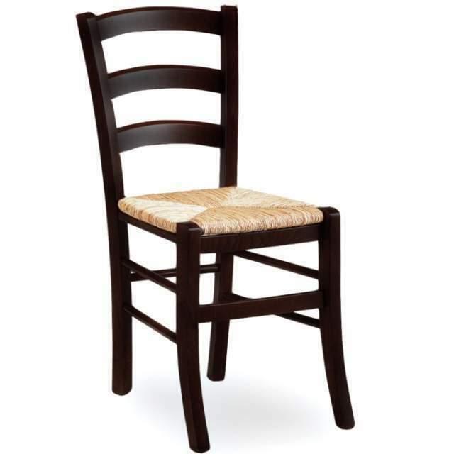 Sgabelli ristorante in legno e sedile in