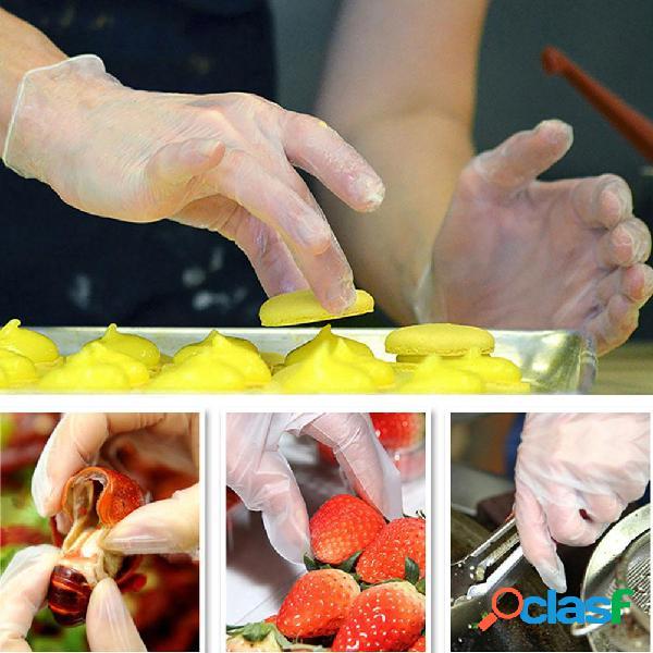 100 Pz / pacco CPE Cucina per uso alimentare Monouso Guanti