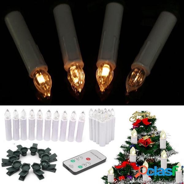 10PCS senza fiamma Chiesa LED Candle Night Light con 7Keys