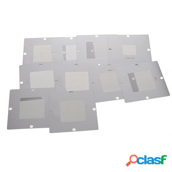 10pz 90 x 90 mm Kit BGA Stampino per Laptop Reballing