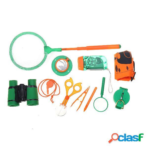 11PCS Bambini Bug Catcher Insetti giocattolo Raccolta di kit