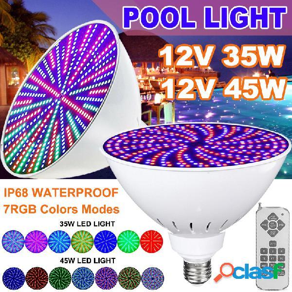 12V 45W / 35W E27 PAR56 RGB LED Lampada per lampadina per